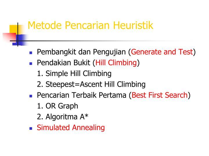 Metode Pencarian Heuristik