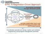 epic a negotiation driven approach