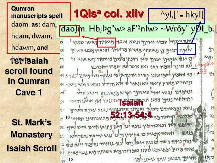 Qumran manuscripts spell