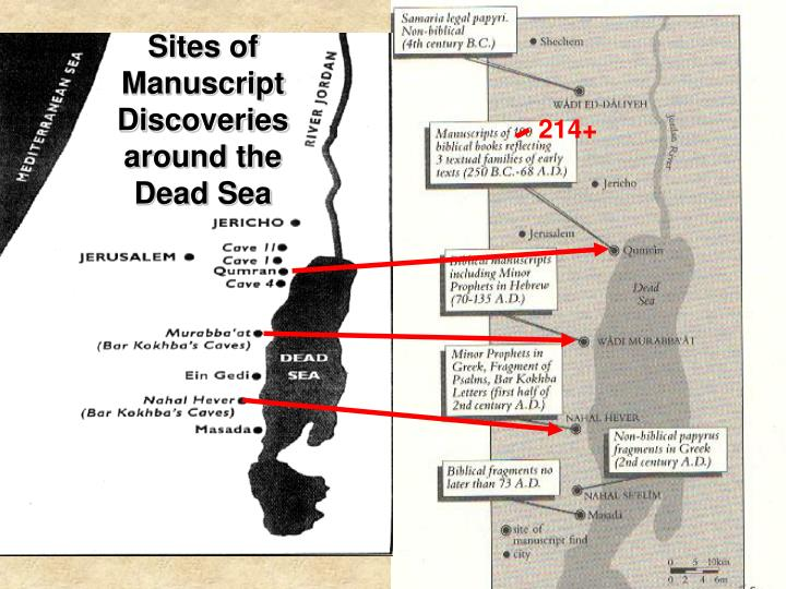 Sites of Manuscript Discoveries around the Dead Sea