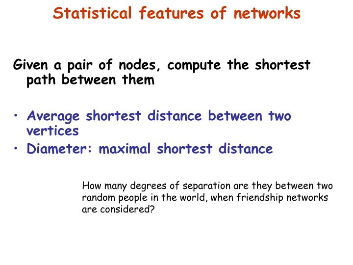 Given a pair of nodes, compute the shortest path between them