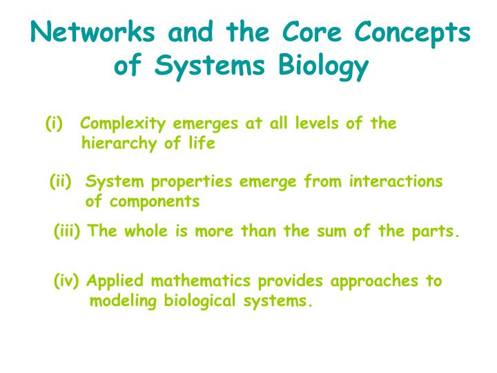 Networks and the Core Concepts