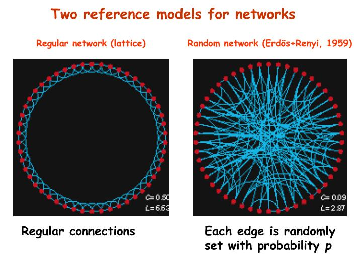 Two reference models for networks