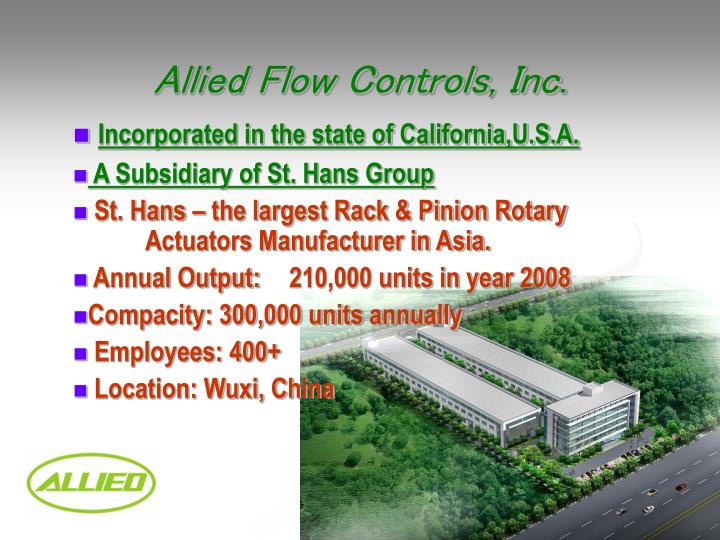 Allied Flow Controls, Inc.