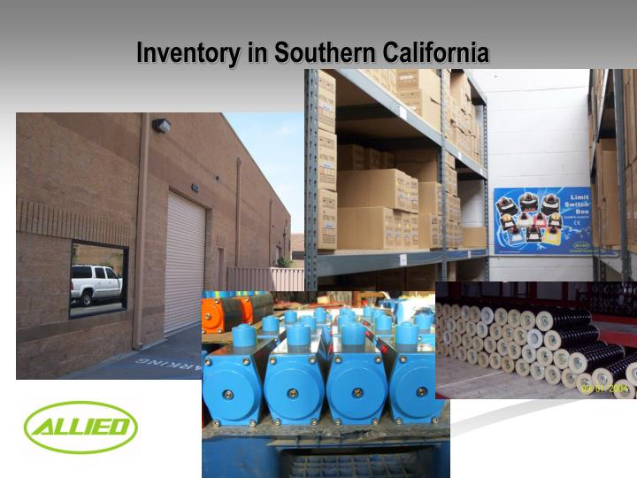 Inventory in Southern California