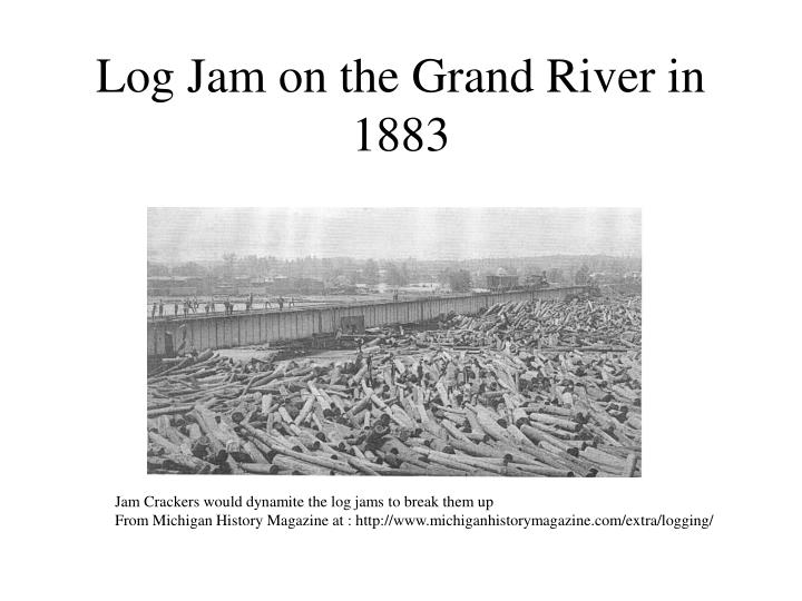 Log Jam on the Grand River in 1883