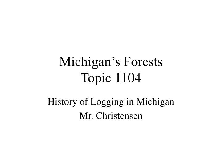 Michigan s forests topic 1104
