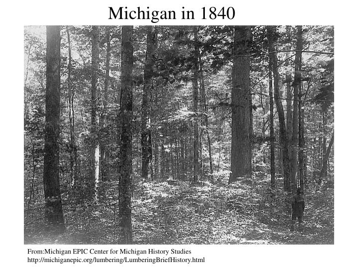 Michigan in 1840