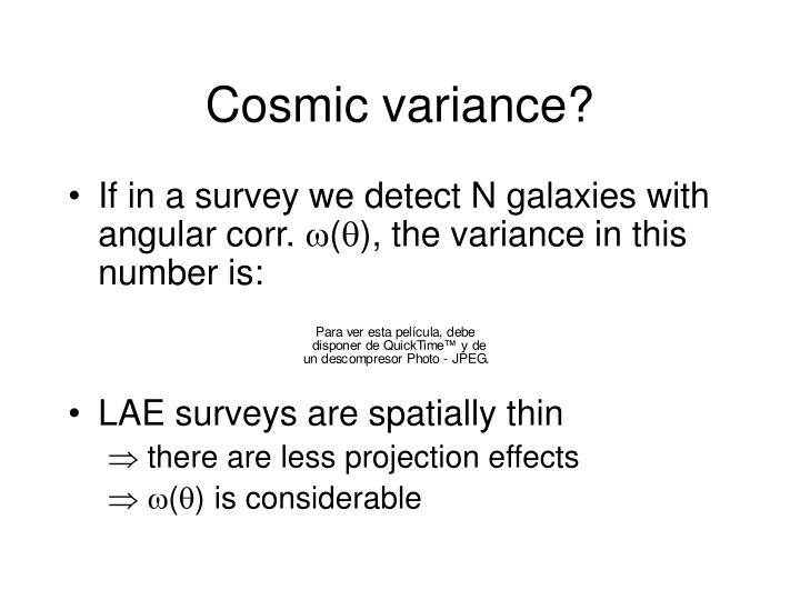 Cosmic variance?