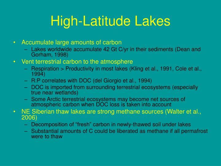 High-Latitude Lakes