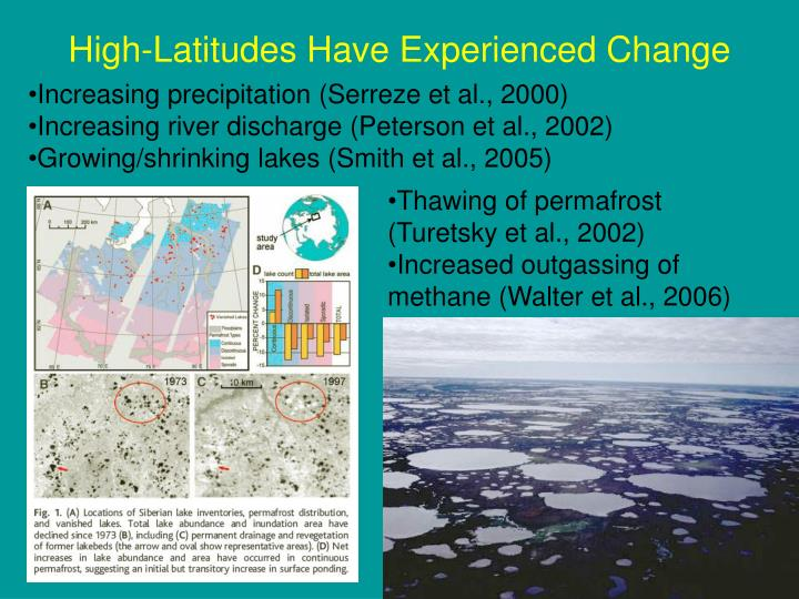 High-Latitudes Have Experienced Change