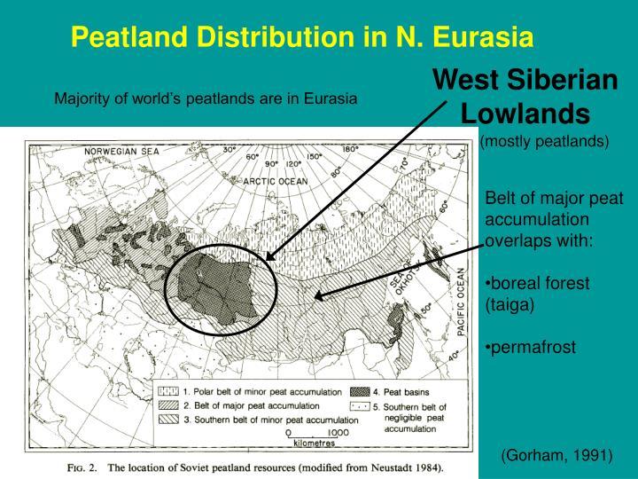 Peatland Distribution in N. Eurasia