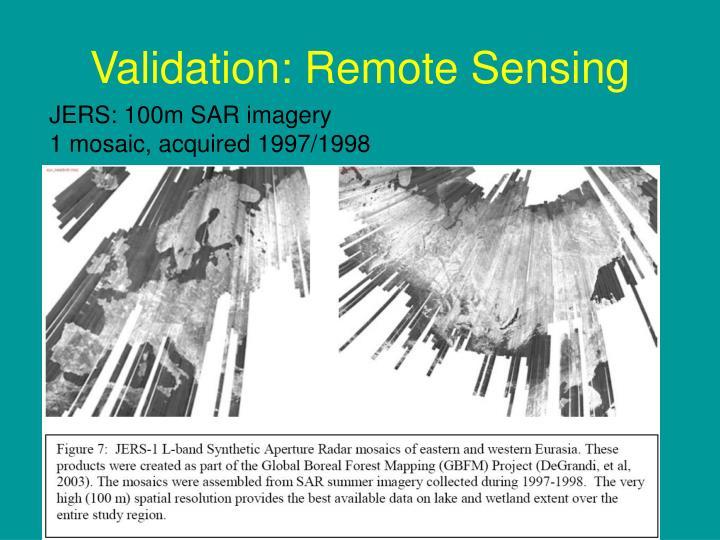 Validation: Remote Sensing