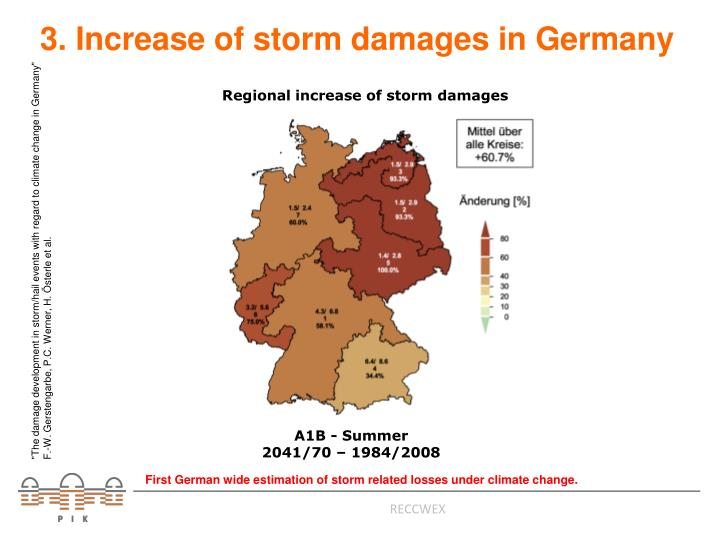 3. Increase of storm damages in Germany