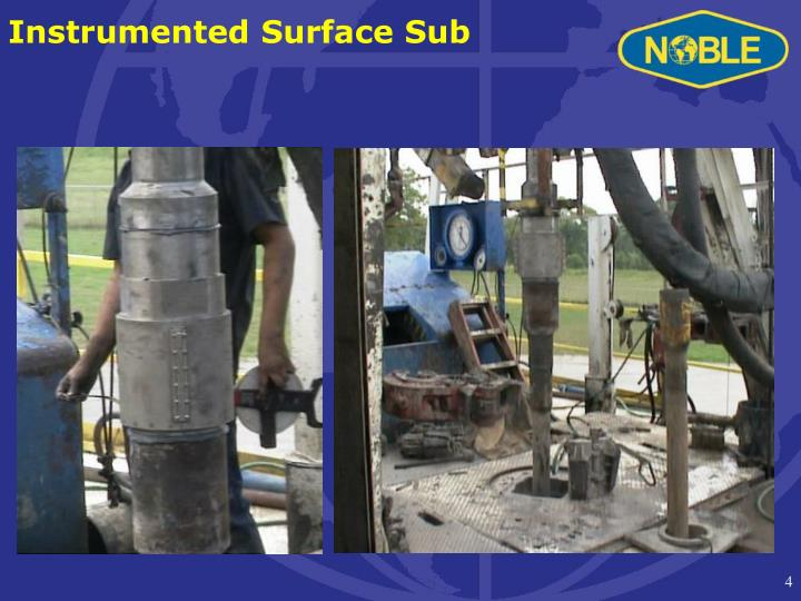 Instrumented Surface Sub