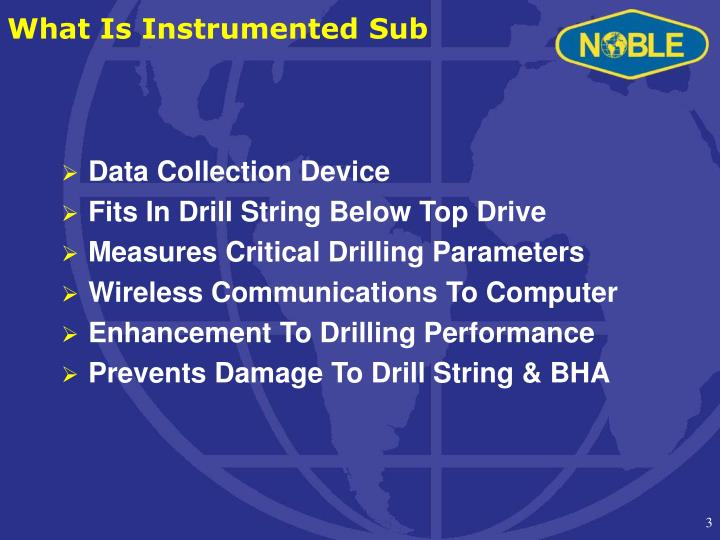 What is instrumented sub