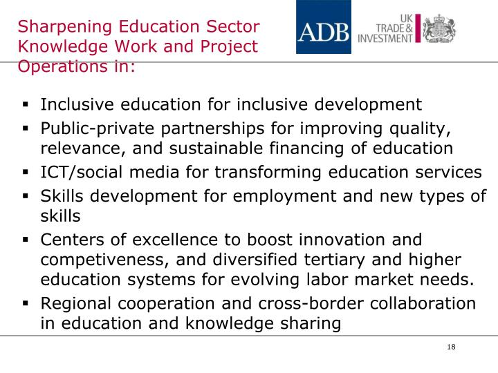 Sharpening Education Sector Knowledge Work and Project Operations in: