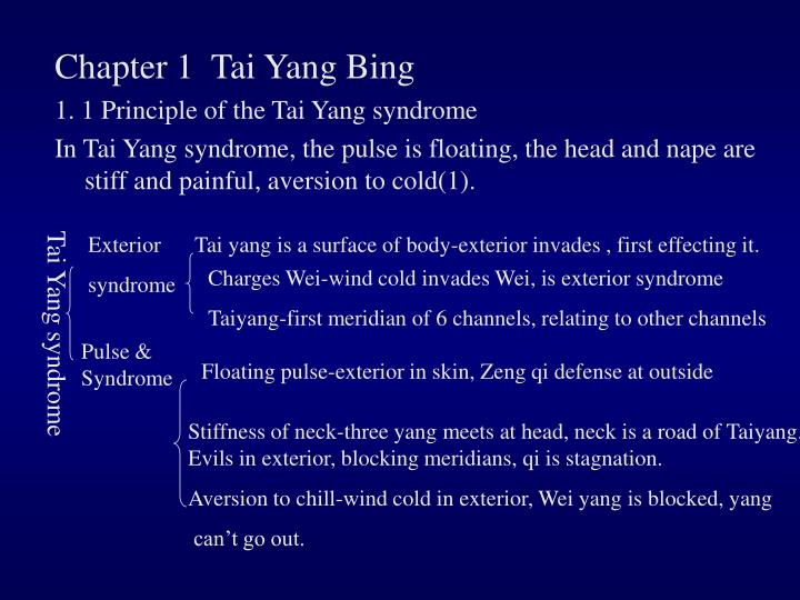 Chapter 1  Tai Yang Bing