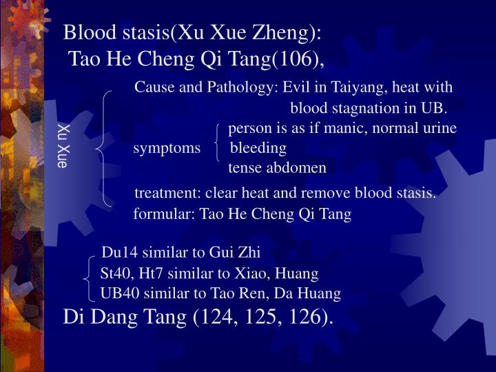 Blood stasis(Xu Xue Zheng):