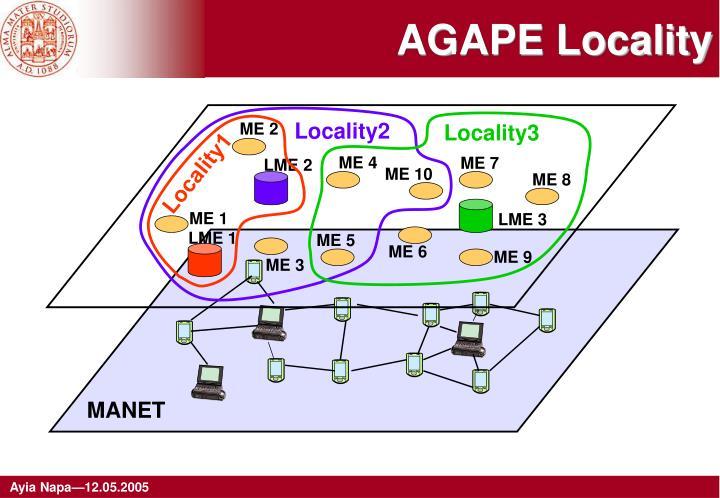 AGAPE Locality