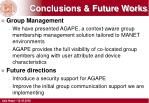 conclusions future works