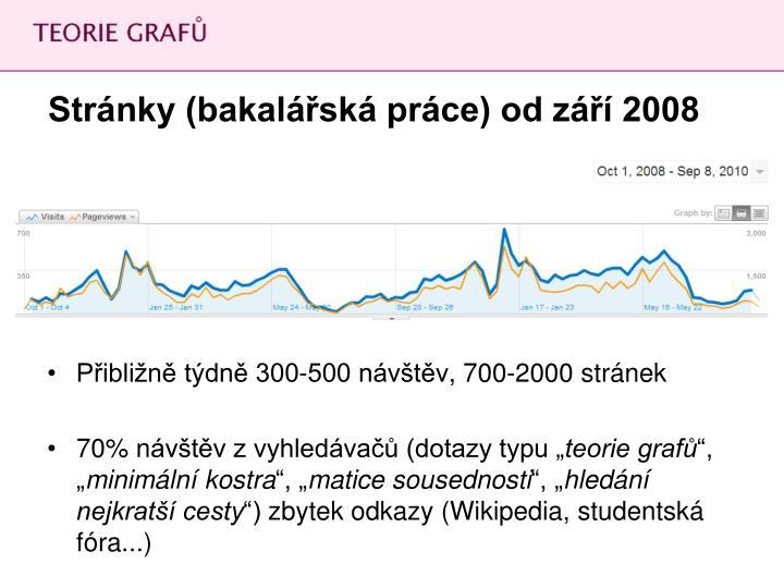 Stránky (bakalářská práce) od září 2008