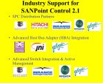industry support for sanpoint control 2 1