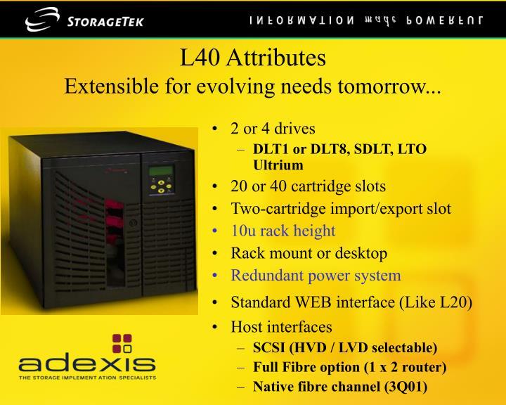 L40 Attributes