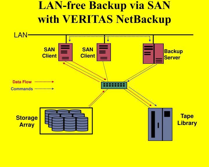 LAN-free Backup via SAN
