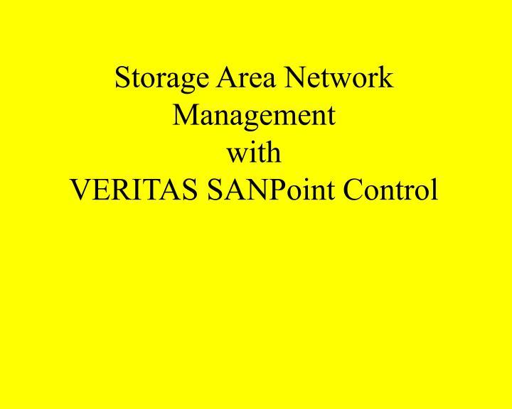 Storage Area Network Management