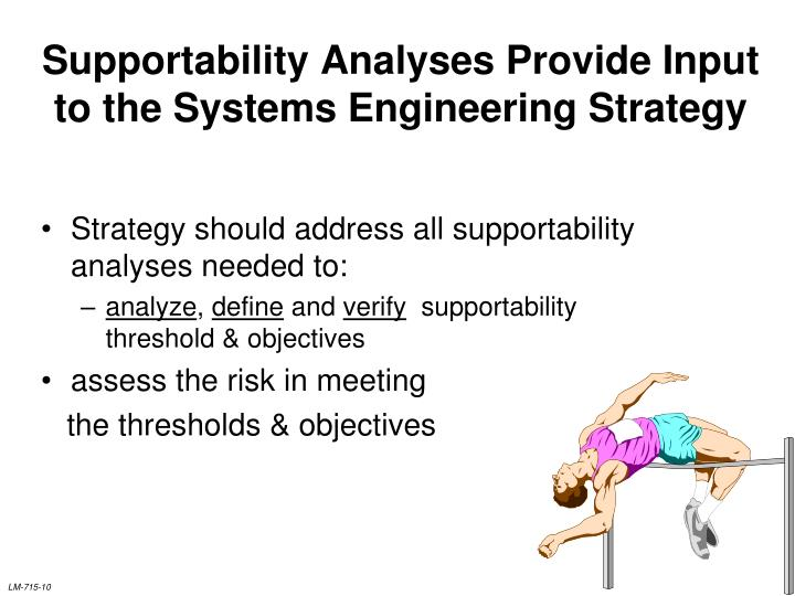 Supportability Analyses Provide Input to the Systems Engineering Strategy