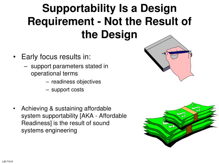 Supportability Is a Design Requirement - Not the Result of the Design
