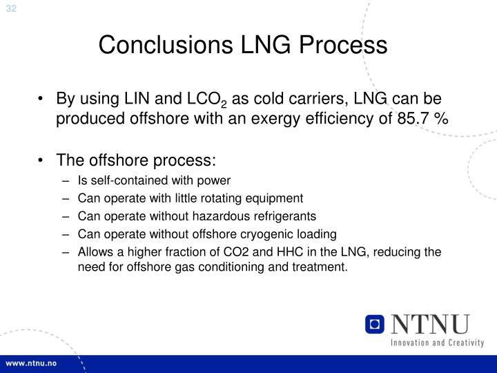 Conclusions LNG Process