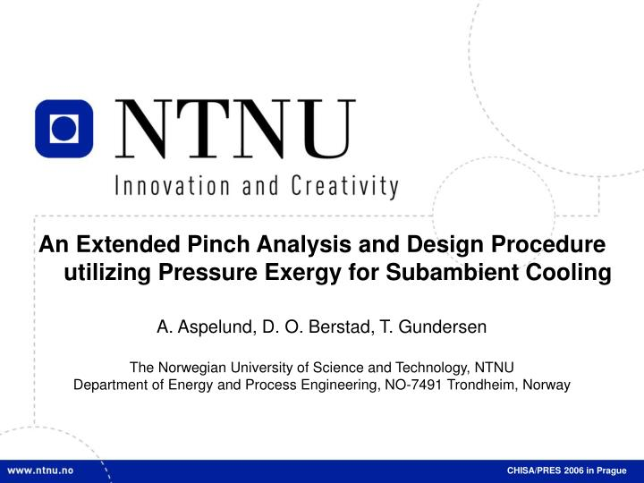 An Extended Pinch Analysis and Design Procedure utilizing Pressure Exergy for Subambient Cooling