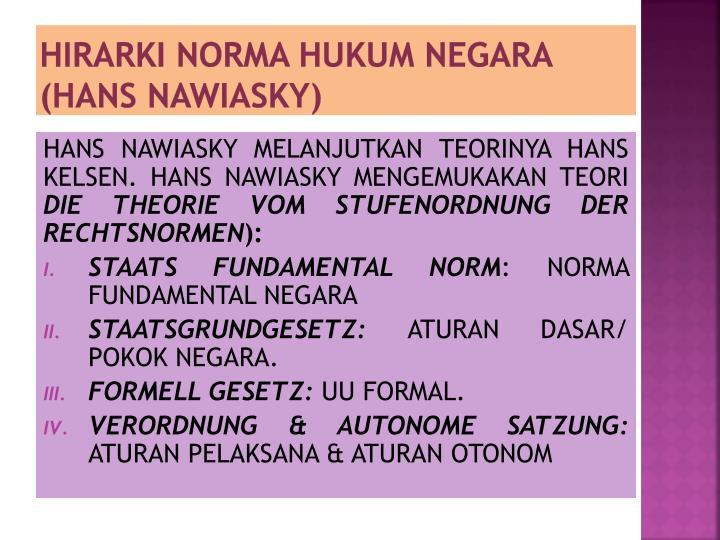HIRARKI NORMA HUKUM NEGARA