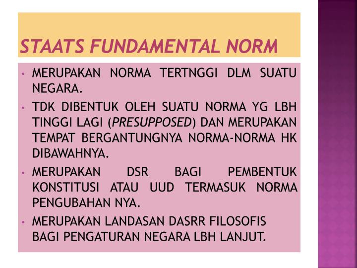 STAATS FUNDAMENTAL NORM