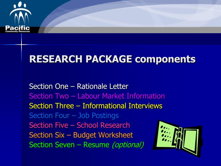 RESEARCH PACKAGE components