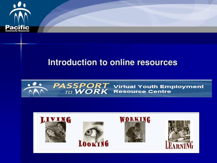 Introduction to online resources
