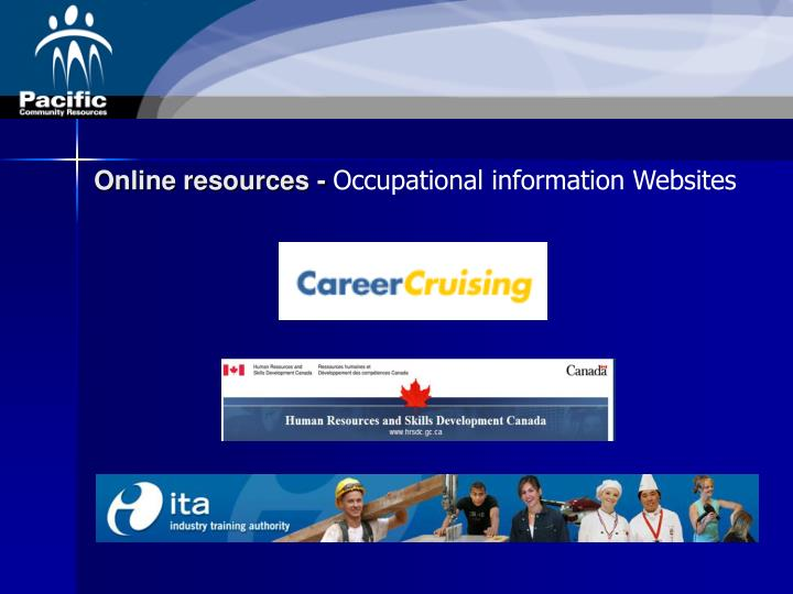 Online resources -
