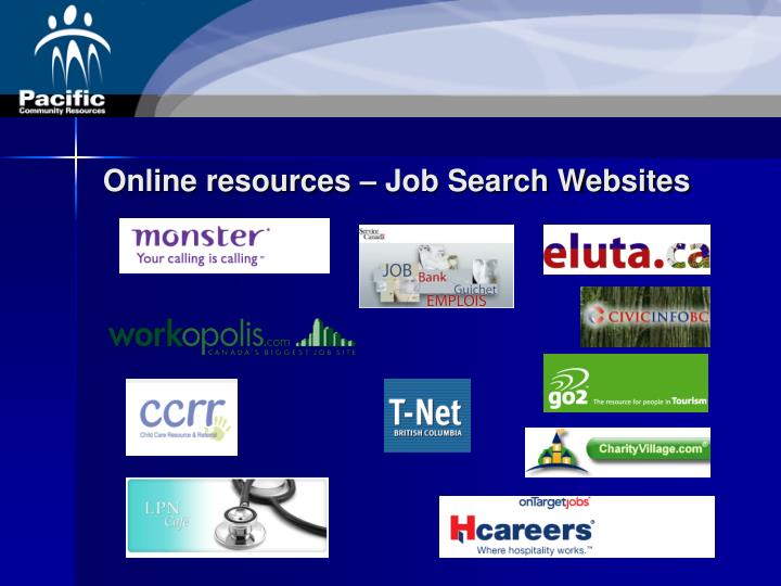 Online resources – Job Search Websites