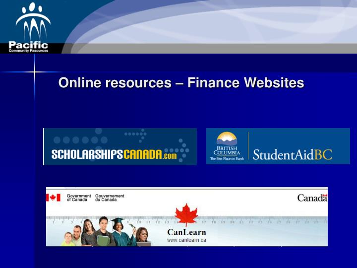 Online resources – Finance Websites