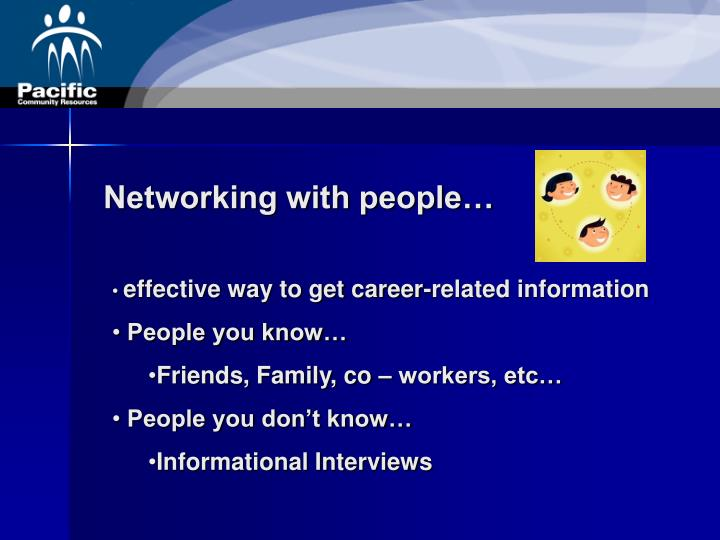 Networking with people…
