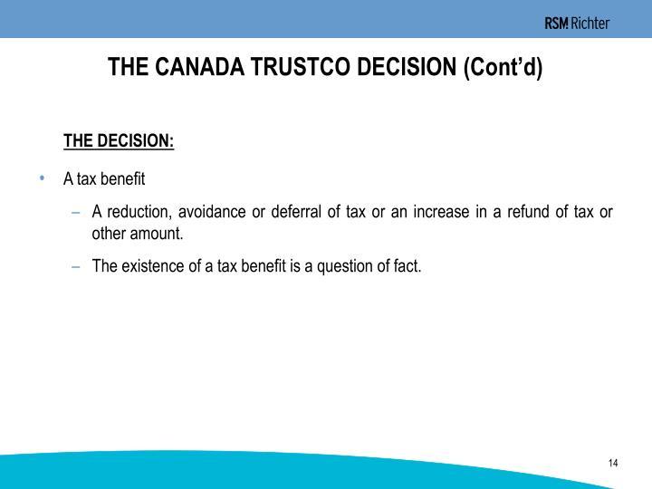 THE CANADA TRUSTCO