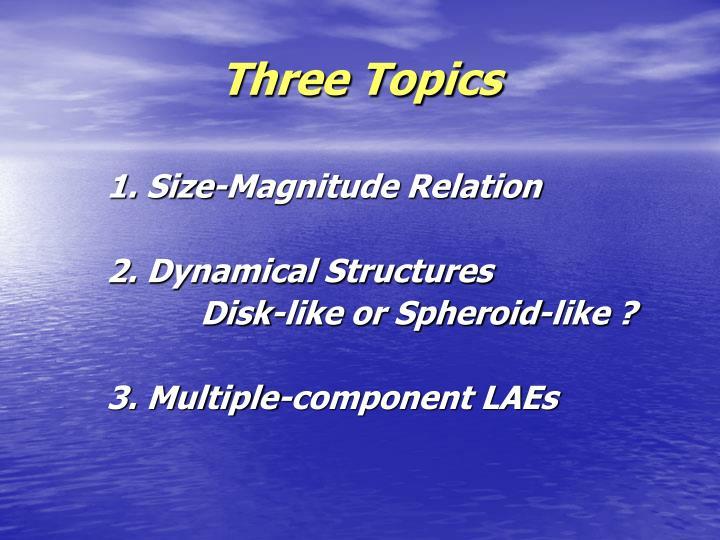 Three Topics