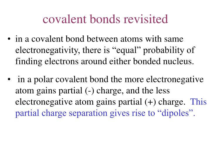 covalent bonds revisited