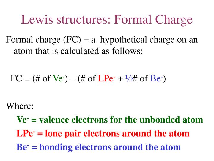 Lewis structures: Formal Charge