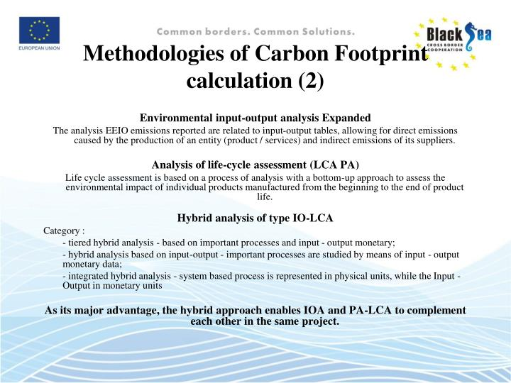 Methodologies of Carbon Footprint  calculation (2)