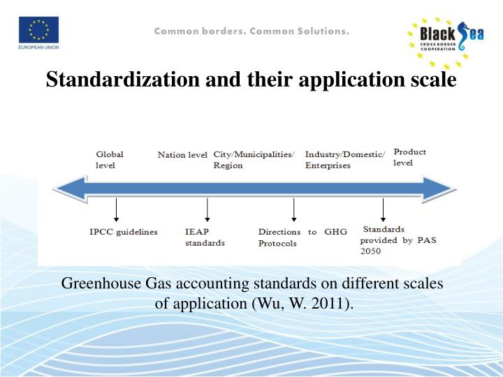 Standardization and their application scale