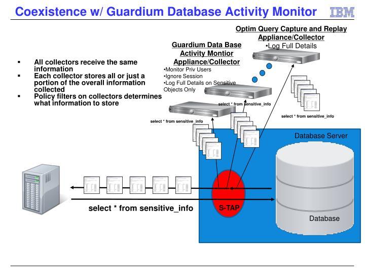 Coexistence w/ Guardium Database Activity Monitor