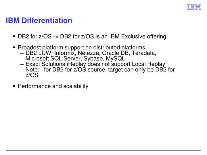 IBM Differentiation